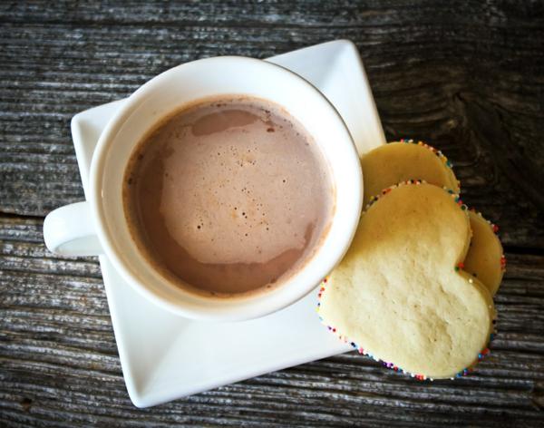 vegane schokolade selbstgemacht herz kekse