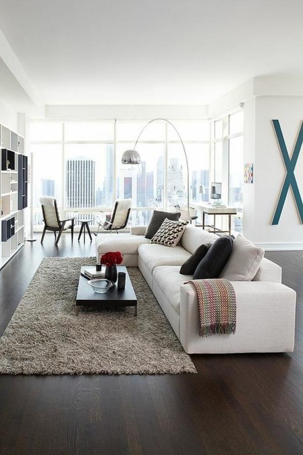 vintage einrichtung wohnzimmer design teppich weißes sofa