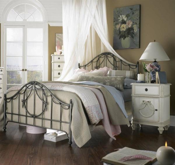 vintage möbel schlafzimmer einrichten ideen dekokissen