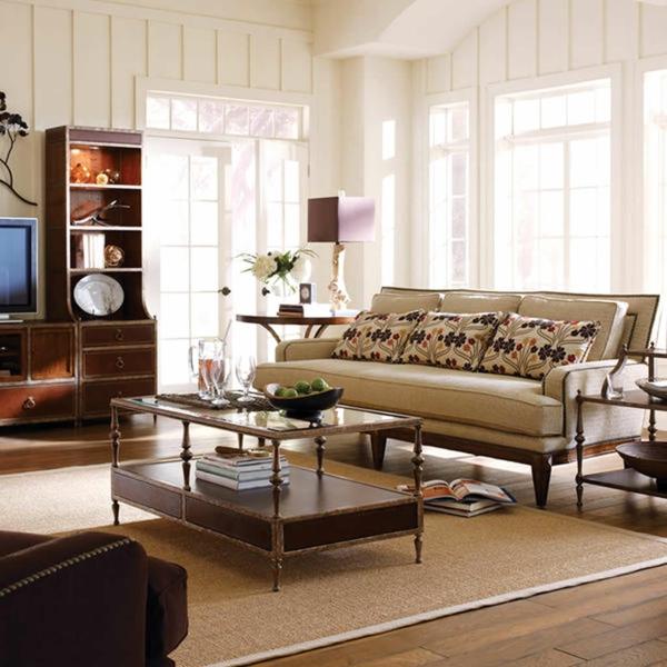 vintage möbel wohnzimmer einrichten sisalteppich