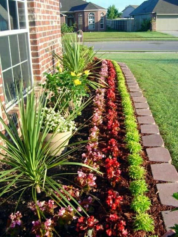 vorgartengestaltung pflanzenbeet kleinen vorgarten gestalten