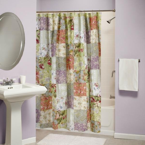vorhang badezimmer spirella textil milano bedruckter vorhang fr das badezimmer fotovorhang. Black Bedroom Furniture Sets. Home Design Ideas