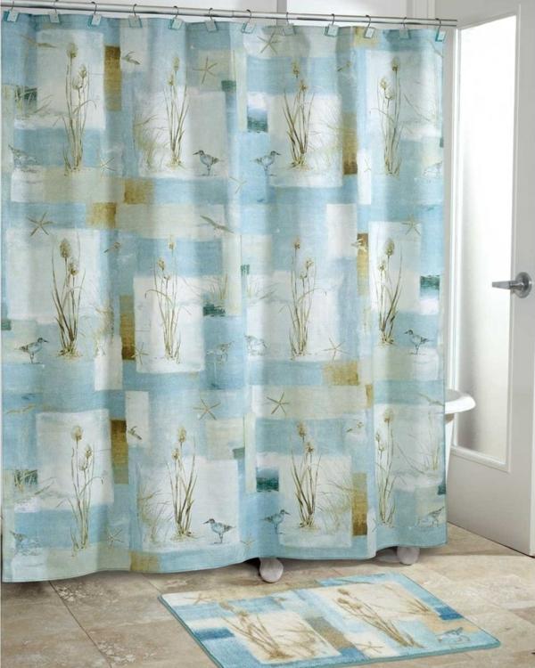Badezimmer Vorhang - schöne Muster und Farben im Bad