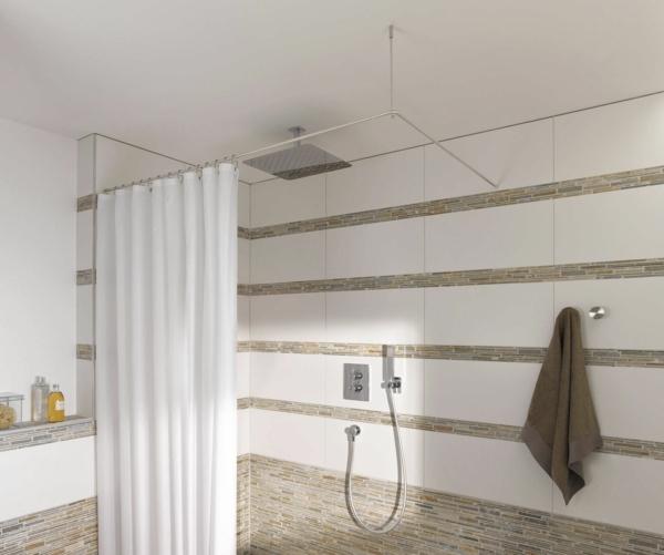 vorhang badezimmer kleines bad weißer vorhang