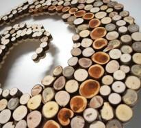 Wanddekoration selber machen – minimalistische Skulpturen aus Naturholz