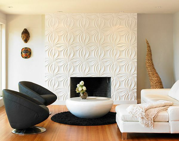 wohnzimmer ideen wandgestaltung braun | sciamfot, Moderne deko