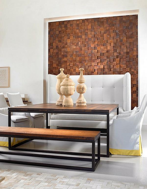 wandgestaltung ideen wohnzimmer weiße möbel Shari Misturak