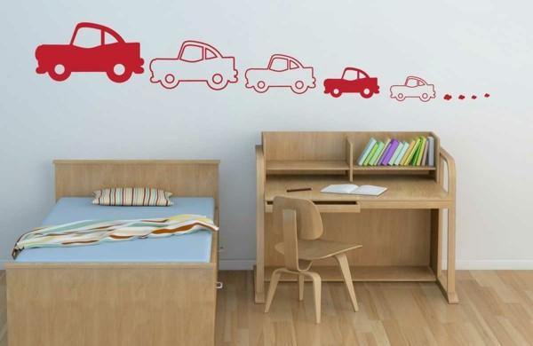 wandtattoos-für-kinderzimmer-autos-wandsticker-rot