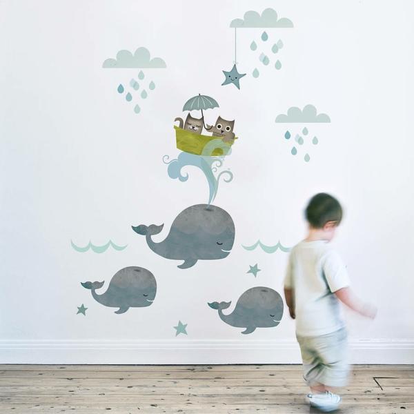 wandtattoos für kinderzimmer jungenzimmer wände dekorieren