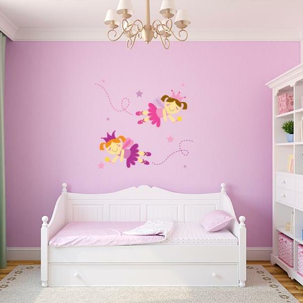 wandtattoos für kinderzimmer mädchenzimmer wände dekorieren rosa