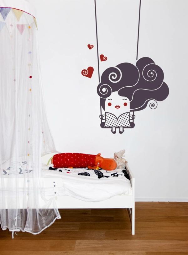 wandtattoos für kinderzimmer wände originell dekorieren