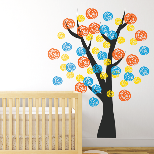 wandtattoos kinderzimmer babyzimmer gestalten baum wandsticker