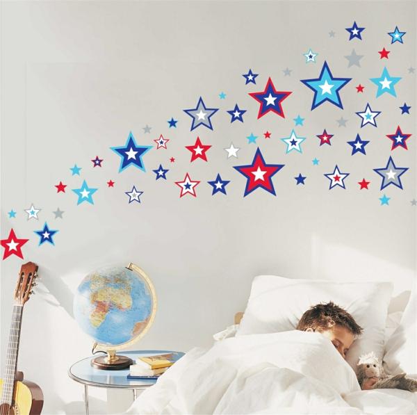 wandtattoos kinderzimmer sterne wandsticker wände dekorieren