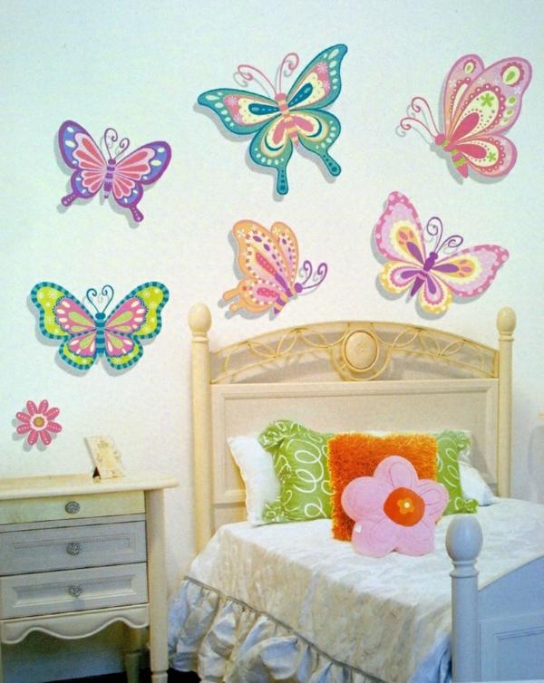 wandtattoos kinderzimmer mädchenzimmer wandgestaltung schmetterlinge