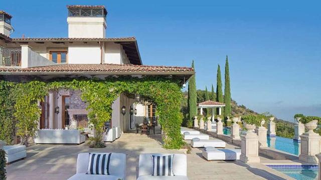 wo wohnt Heidi Klum Villa außenbereich garten pool