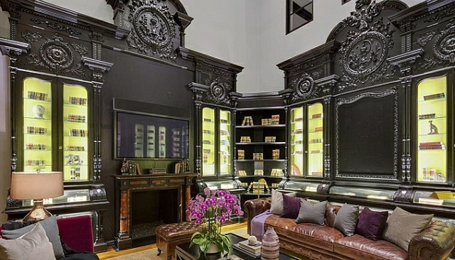 wo wohnt Heidi Klum Villa bibliothek
