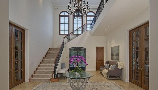wo wohnt Heidi Klum Villa eingangsbereich und treppenhaus