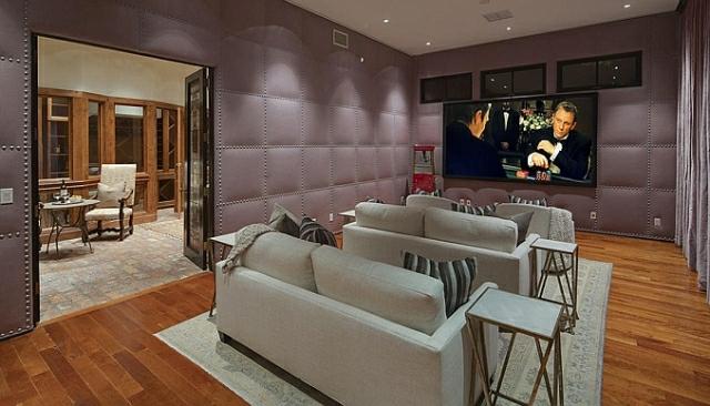 wo wohnt Heidi Klum Villa heimkino tv wohnwand