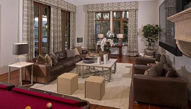wo wohnt Heidi Klum Villa wohnzimmer eintichtungstipps