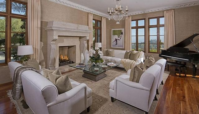 wo wohnt Heidi Klum Villa wohnzimmer möbel