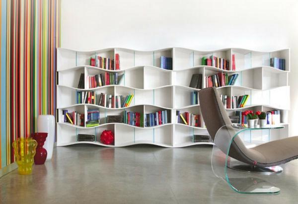wohnzimmer möbel moderne regalsysteme bücherregal