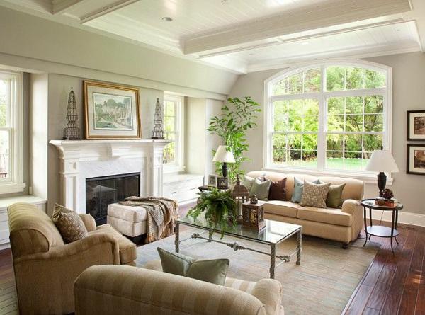 wohnzimmer möbeldesign holländischer stil kamin
