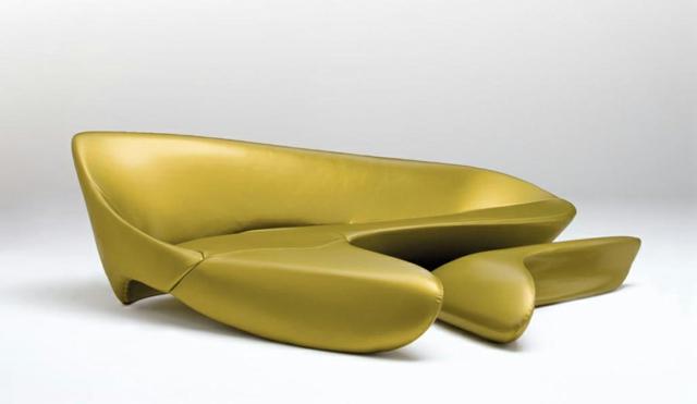 zaha hadid architektur design wasserhahn armatur designer sofa gelb