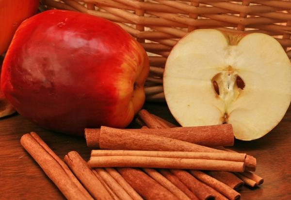 zimt apfel kombinieren gesund essen
