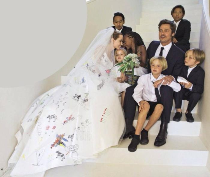 Angelina Jolie Kinder hochzeitstag foto