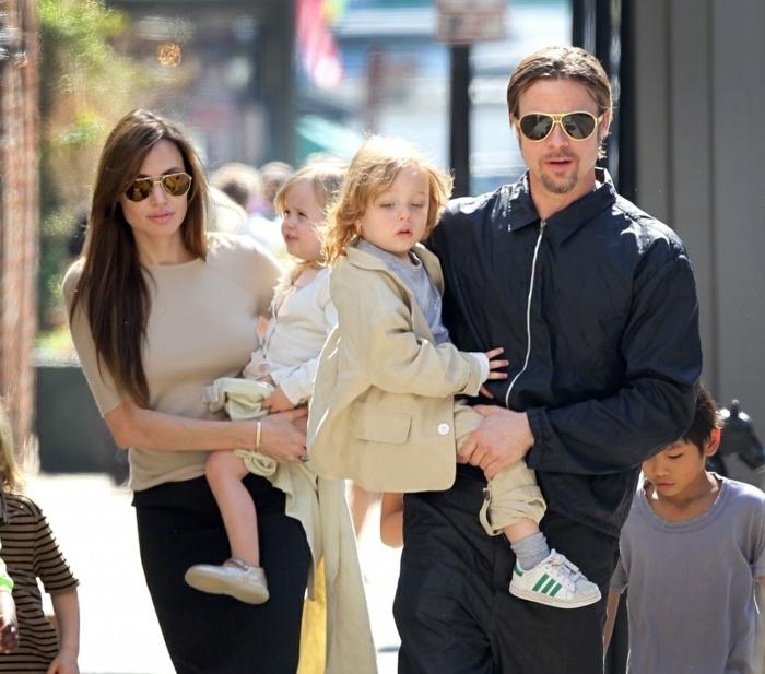 Angelina Jolie Kinder unterwegs knox jolie pitt in brad pitt