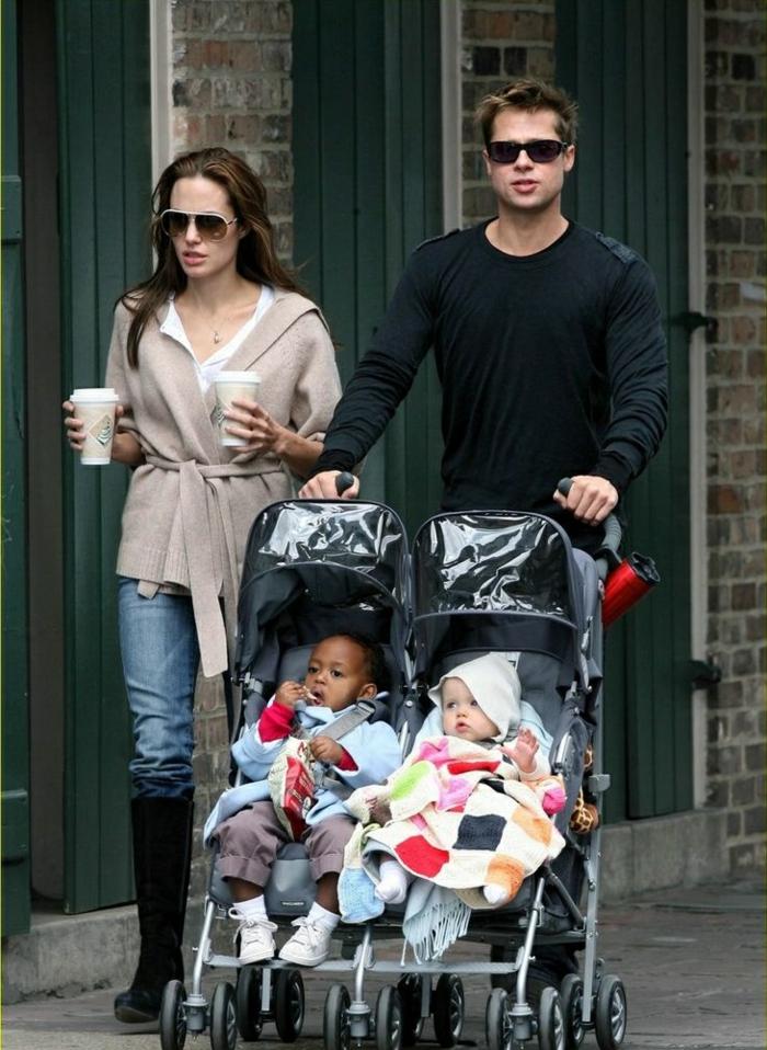 Angelina Jolie Kinder unterwegs mit brad pitt