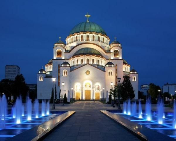Belgrad Kathedrale Sava fluss Reisen nach Serbien