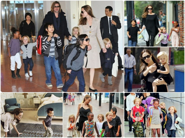 Brad Pitt Angelina Jolie Kinder unterwegs