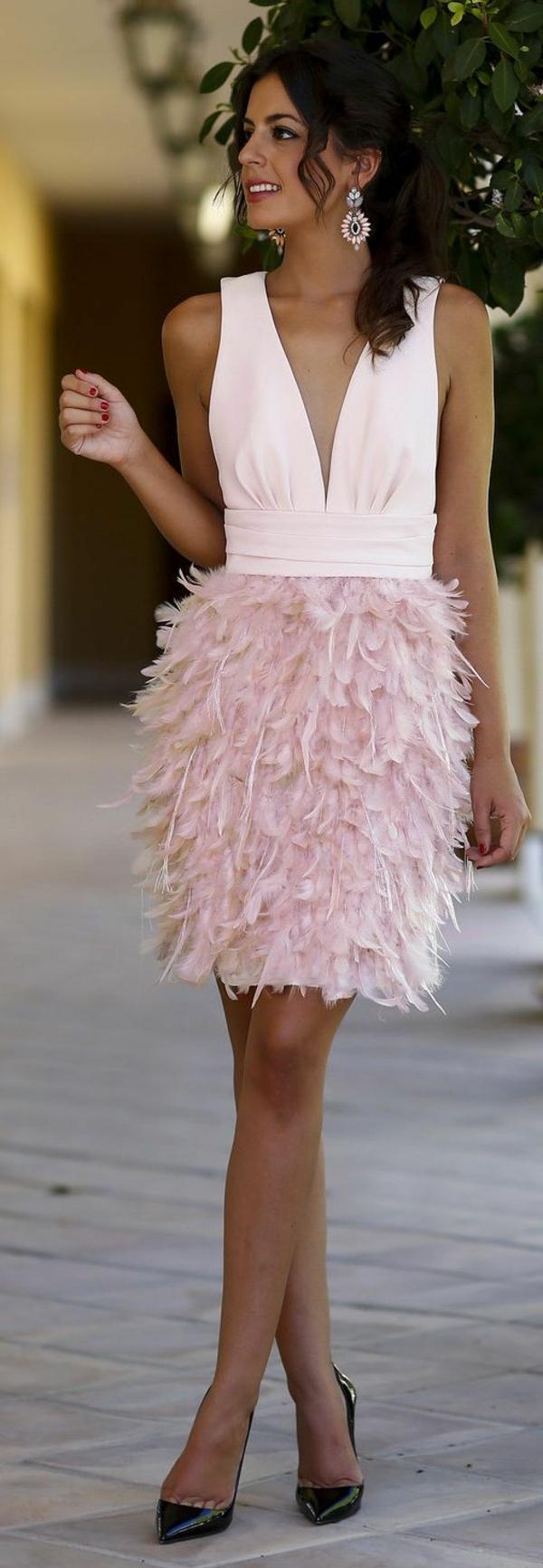 Cocktail Kleider haute couture rosa knielänge dresscode