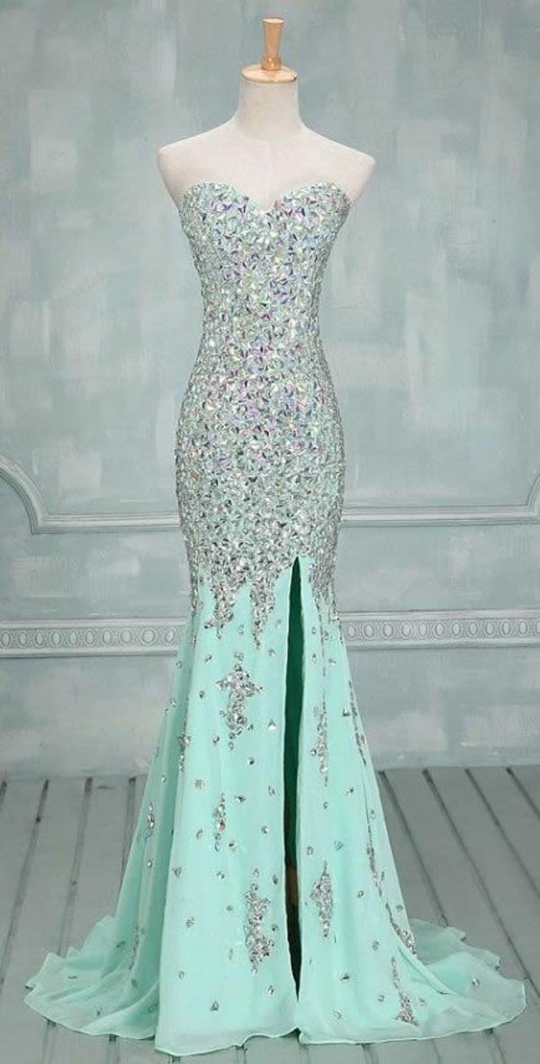 Cocktail Kleider minzgrün elegant bodenlang dresscode