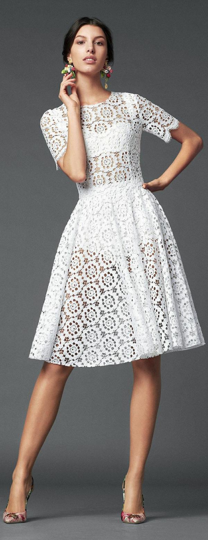 Cocktail Kleider weiß knielang dresscode