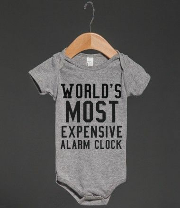 Coole Wecker baby strampler früh aufstehen