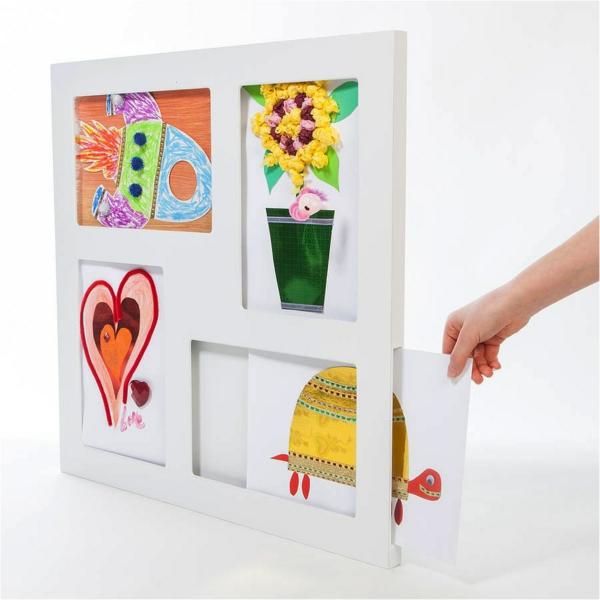 DIY Deko Kinderzeichnungen ausstellen zuhause dekorieren