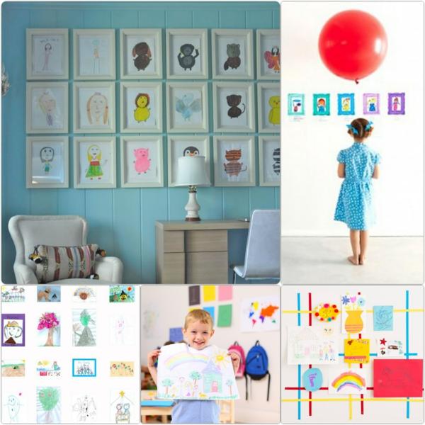 DIY Deko mit Kinderzeichnungen diy projekte für eltern