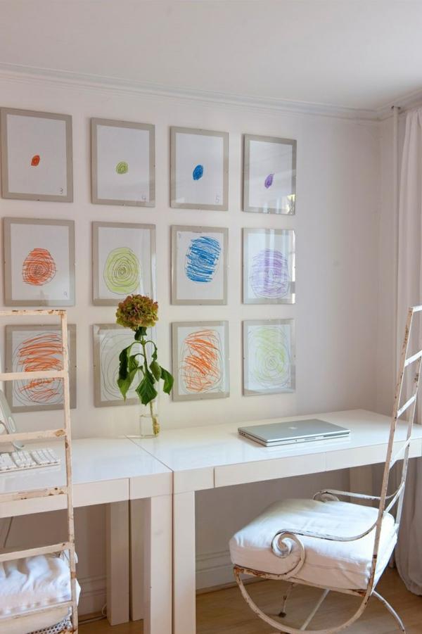 DIY Deko mit Kinderzeichnungen kinderzimmer dekoraieren