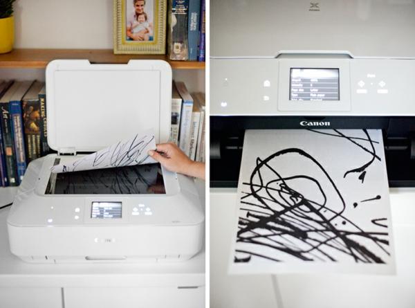 DIY Deko mit Kinderzeichnungen kreative bastelideen