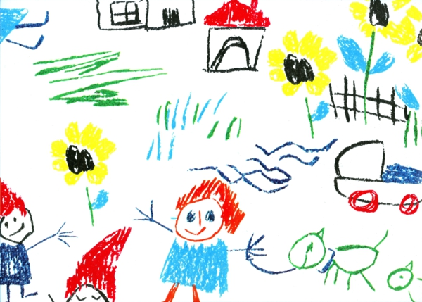 DIY Deko mit Kinderzeichnungen kreative deko ideen