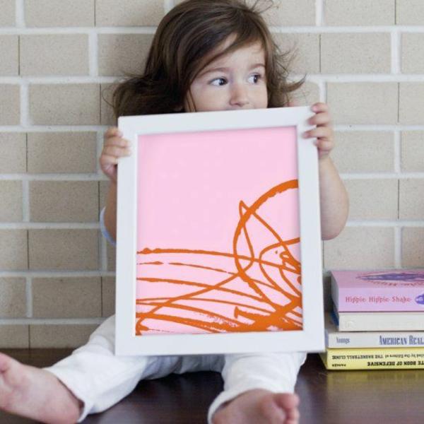 DIY Deko mit Kinderzeichnungen wenn kinder malen