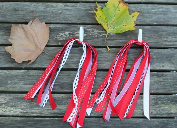 Fahrrad Accessoires Fahrradfranzen selber machen rot