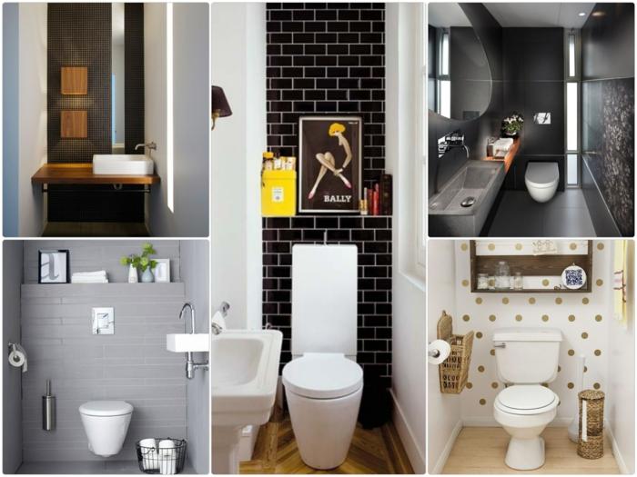 Gäste WC gestalten einrichtungsideen kleines bad