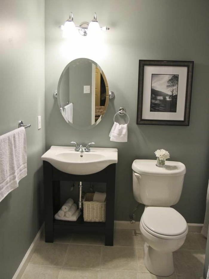 Gäste WC gestalten kleine separate toilette
