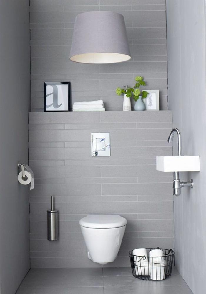Gäste WC gestalten kleines bad minimalistisches design