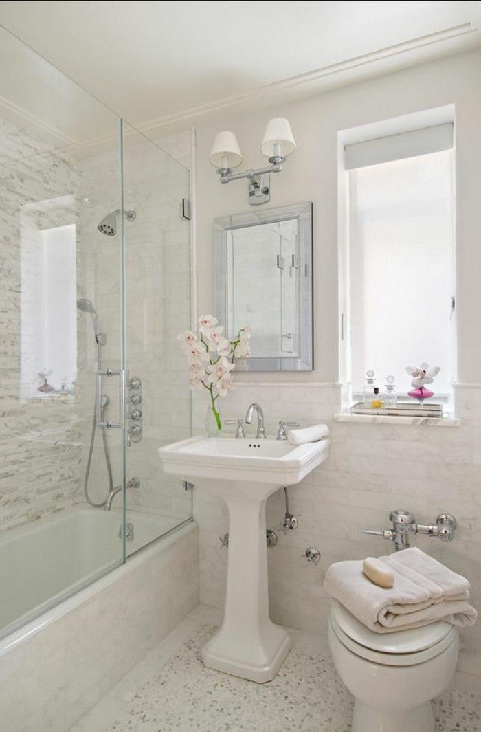 Gäste WC gestalten kleines bad mit badewanne