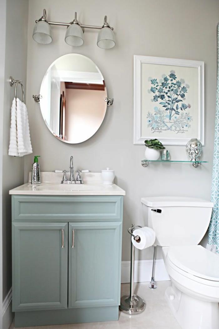 Gäste WC washbecken wandspiegel wanddeko