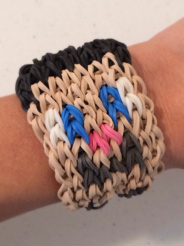 Gummiarmbänder armband mit gesicht armbänder flechten